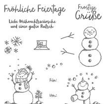 "Stempelset Klarsicht ""Frostige Grüße"" - 18,23 €"