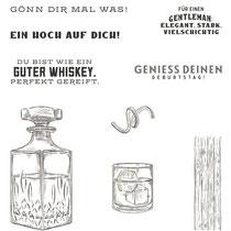 """Stempelset Ablösbar """"Wie ein guter Whiskey"""" - 19,06€"""