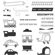 """Stempelset Klarsicht """"Gute Reise"""" - 17,40 €"""