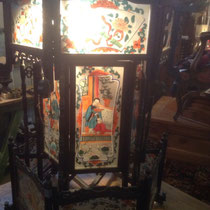 eastern lantern with hand painted glasses