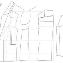 Schnittechnik, Modellmacher, Schnittkonstruktion, Schnitt,MTM, Made to measure, Maßkonfektion