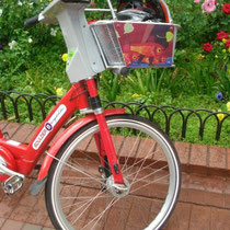 Cruiser bike on the Pearl Street Mall