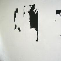 construction_home (Ausflug) 2016, Kartonschnitt, 300 x 120 cm