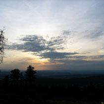 im August 2003 - gegen 20.00 Uhr auf dem Feldberg / Taunus