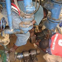 Probleme mit Pumpen und Turbine wegen des Sandgehalts im Wasser
