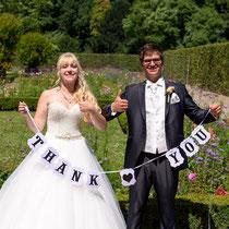 Hochzeitsbild für Danksagung