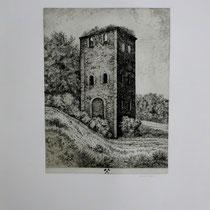 """Malakofturm der Zeche """" Preussisch Zepter """" bei Bochum-Weitmar"""