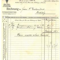 Rechnung von 1918