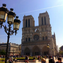 In Front of the Notre Dame in Paris