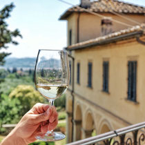 Glass of Wine in Tuscany, Fattoria di Maiano Fiesole