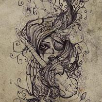 tattoo artwork * for eva* by visob * 2010