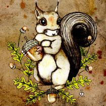 tattoo artwork * squirrel for sliver* by visob *2012