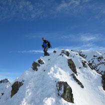 Philipp auf dem Gipfel