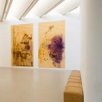 Teil des sechsteiligen Zyklus von Kunststoffsiegelbildern des Kölner Künstlers Sigmar Polke