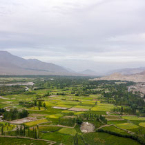 Kultiviertes Land im Industal