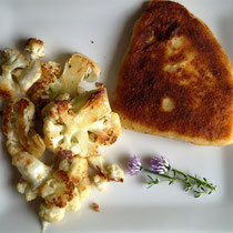Kartoffel-Cordon-Bleu & Blumenkohl
