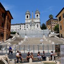 Spanische Treppe und Santa Trinita dei Monti