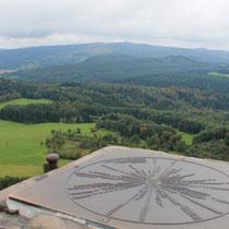 Deutschland - Hessische Rhön - Blick von der Milseburg zur Wasserkuppe
