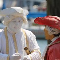 Lebende Statuen in Lindau