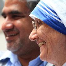 Pater Vincent und Schwester Mary Prema