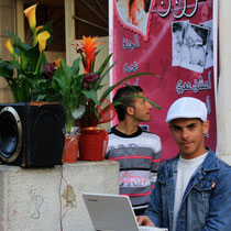 Blumenhändler in Nazareth