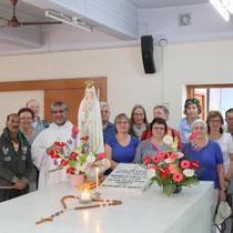 Am Grab von Mutter Teresa