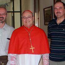 Pater Franz vom Generalrat der Augustiner (links) und Kardinal em. Jaime Ortega von Havanna, Kuba (Mitte)