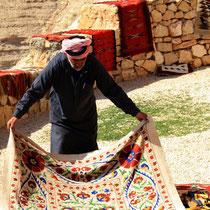 Jordanischer Teppichhändler
