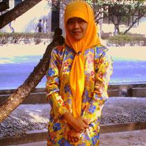 Malaiin von der Insel Borneo