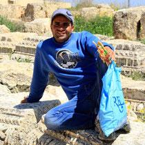 Flötenverkäufer in Jordanien