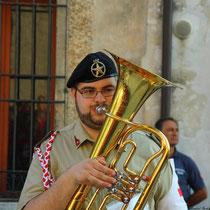 Musiker vom Croce Rossa Italiana