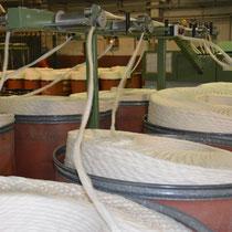 Gesäuberte Baumwolle für Tragetücher.