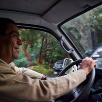 Unser Fahrer George.