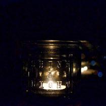 Und am Abend gibt's Kerzenschein.