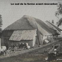 Le bâtiment du corps de ferme avant 1910.