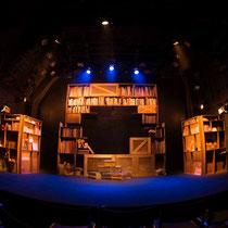 劇団回転磁石「人皮の本と舞い天狗」舞台美術