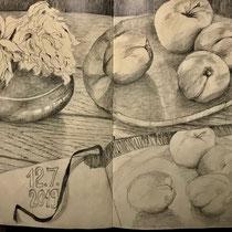 Seite aus dem Skizzenbuch