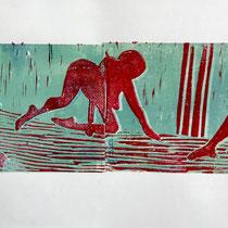 Linolschnitt 1    25x70cm