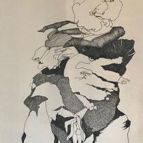 Fineliner auf Papier  50x70cm