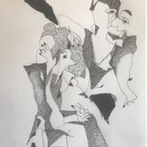 Fineliner auf Papier 1   30x40cm