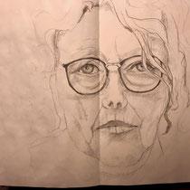 Selbstporträt, Skizzenbuch
