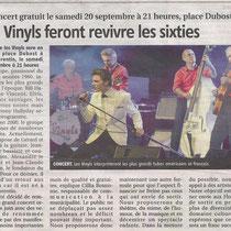 Les Vinyls - L'Yonne Républicaine - 17 Septembre 2014