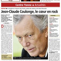 L'Yonne Républicaine - 3 Janvier 2012 - Portrait de Jean-Claude Coulonge