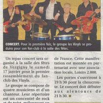 Les Vinyls - L'Yonne Républicaine - 9 Janvier 2015