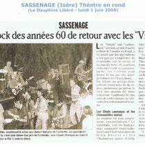 Le Dauphiné Libéré - 1er Juin 2009 - Théâtre en Rond