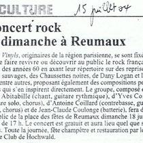 Les Vinyls - Reumaux - 15 Juillet 2004