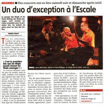 Les Vinyls et Les Chats Sauvages - Article de l'Yonne Républicaine du 25/11/2013