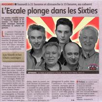 Les Vinyls et Les Chats Sauvages - Article de l'Yonne Républicaine du 20/11/2013