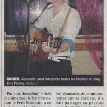 Alexandre Lucet - L'Yonne Républicaine - 8 Août 2011