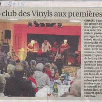 L'Yonne Républicaine - 19 Janvier 2015 - Concert pour le fan Club